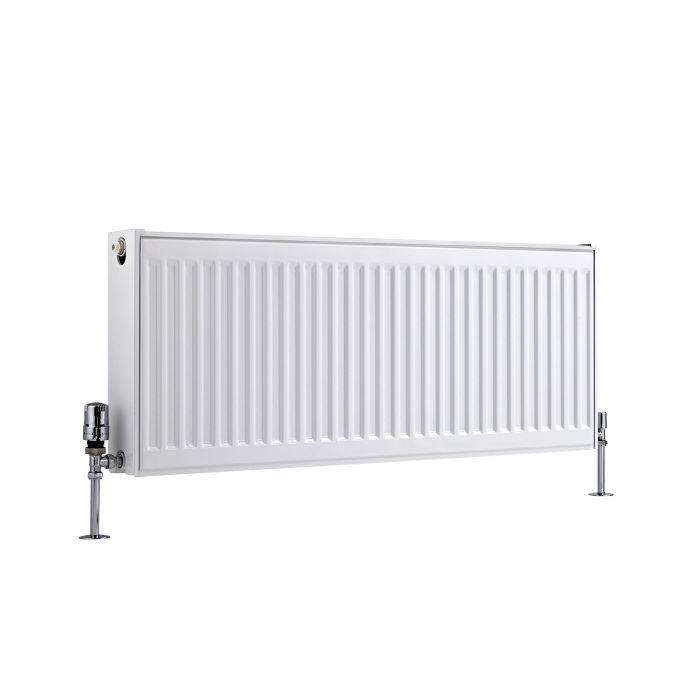 Radiador Convector Horizontal Doble - Blanco - 400mm x 1000mm x 103mm - 1465 Vatios - Eco