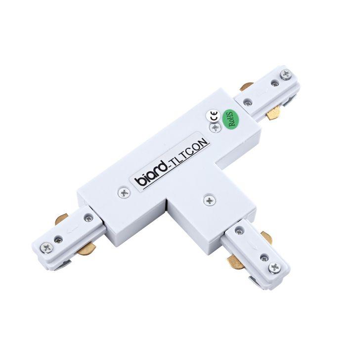Biard Unión Conector de 3 Entradas para Focos de Carril LED - Blanco