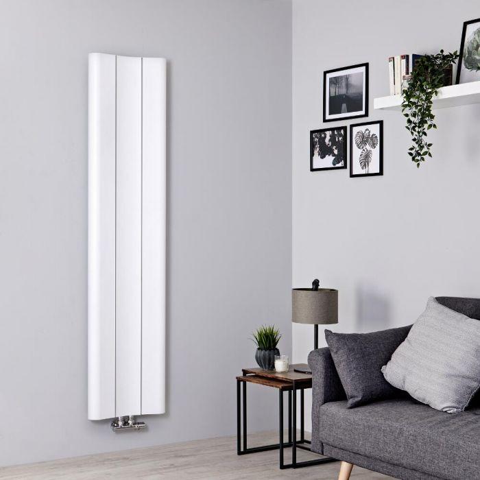 Radiador de Diseño Vertical - Aluminio - Blanco - 1600mm x 370mm - 869 Vatios - Aloa