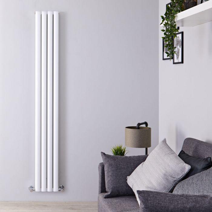 Radiador de Diseño Vertical Doble - Blanco - 1800mm x 230mm x 76mm - 1002 Vatios - Revive Air