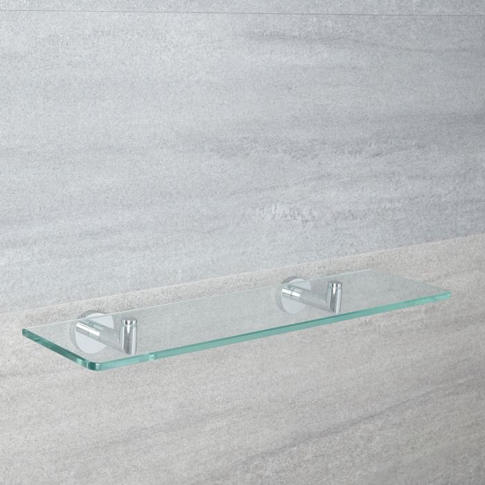 Repisa Mural de Vidrio para Cuarto de Baño Minimalista