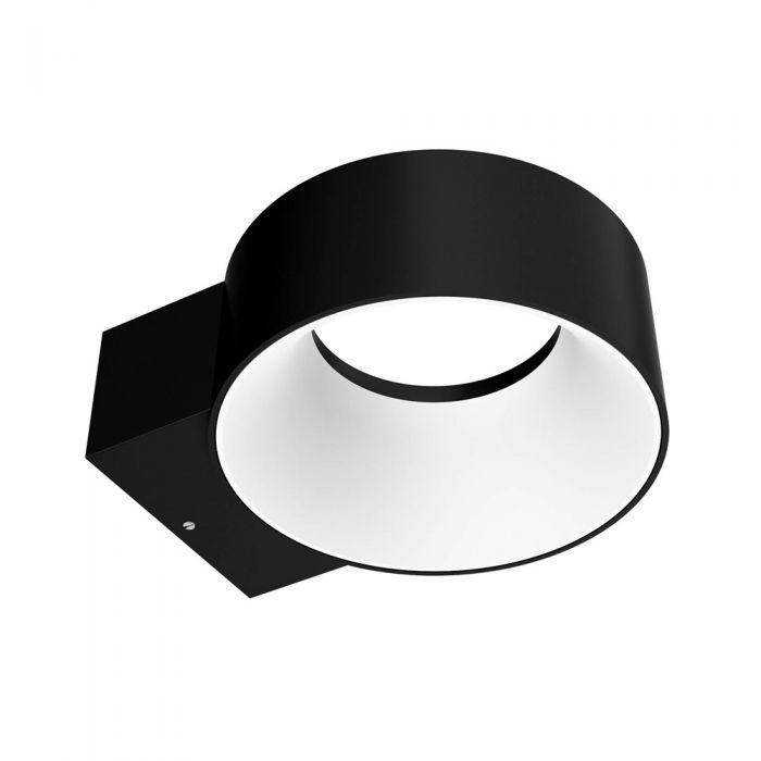Aplique Mural LED Exterior 8W IP65 Negro - Faro