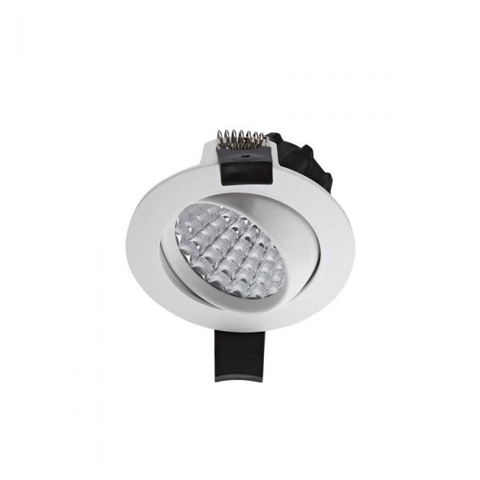 Biard Foco LED Empotrable Orientable de 7W con Intensidad Regulable - Blanco