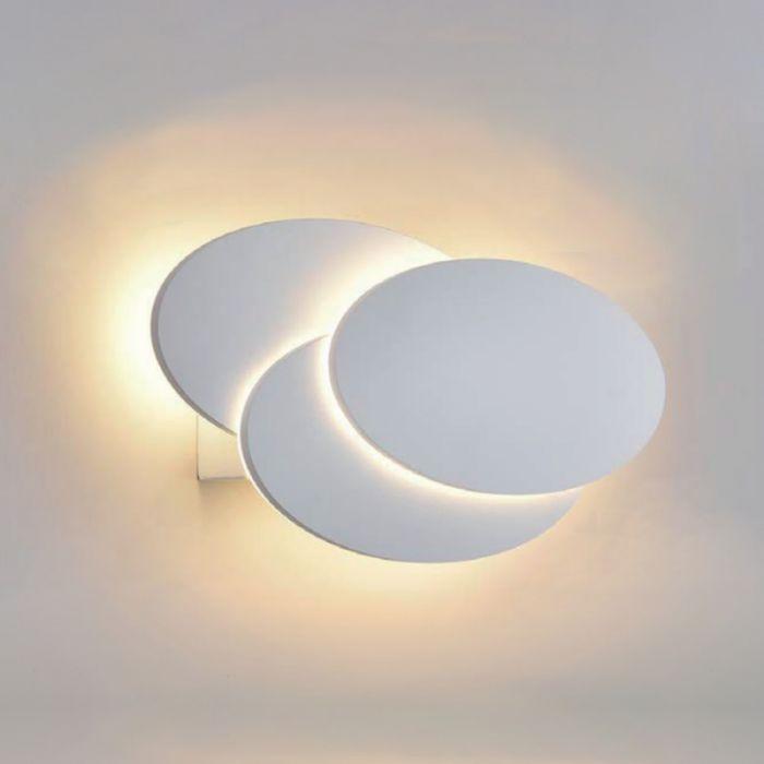 Biard Aplique LED Redondo Retroiluminado para Interiores Blanco - Piran