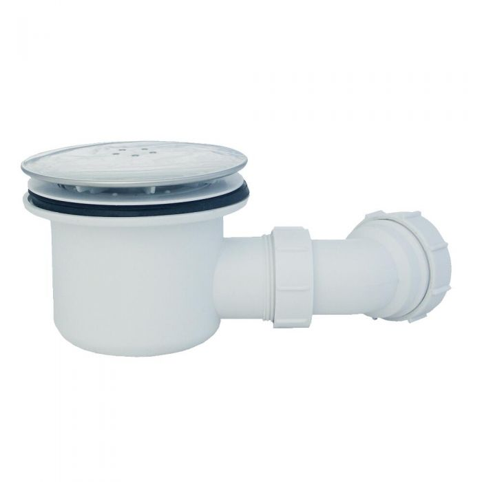 Válvulas de Desagüe Cromada de 90mm para Platos de Ducha con Vaciado de Hasta 32 Litros por Minuto Maxton