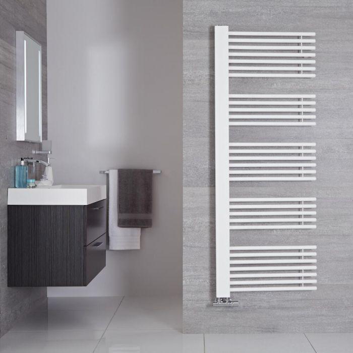 Radiador Toallero de Diseño Vertical - Color Blanco Mineral - 1600mm x 600mm - 1000 Vatios - Bosa