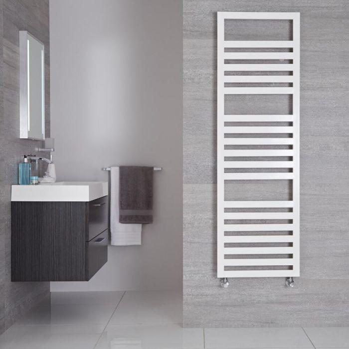 Radiador Toallero de Diseño Vertical - Blanco - 1600mm x 500mm - 814 Vatios - Ponza