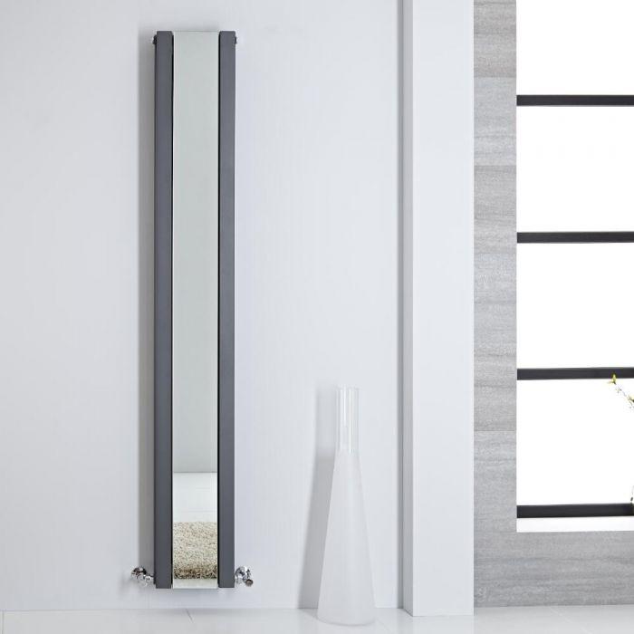 Radiador de Diseño - Vertical Con Espejo - Antracita - 1800mm x 265mm - 995 Vatios - Sloane