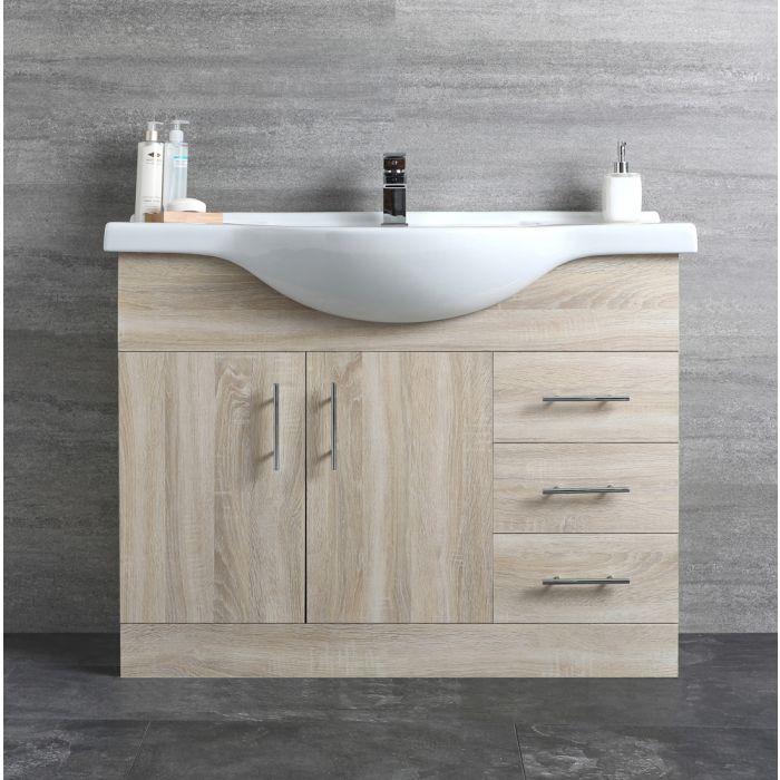 Mueble de Lavabo Efecto Roble 1050x835x485mm- Classic Oak