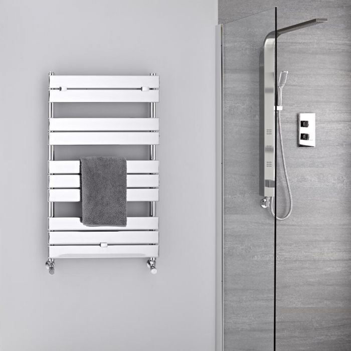 Radiador Toallero -Paneles Planos - Cromado - 1000mm x 600mm - 385 Vatios- Lustro