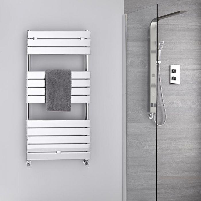 Radiador Toallero -Paneles Planos - Cromado - 1213mm x 600mm - 464 Vatios- Lustro