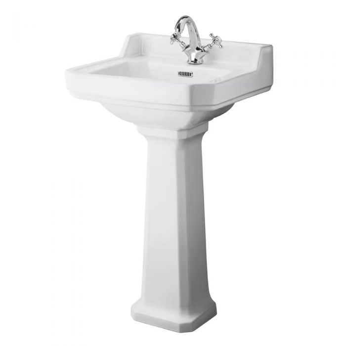 Lavabo con Pedestal en Cerámica 500mm - Richmond