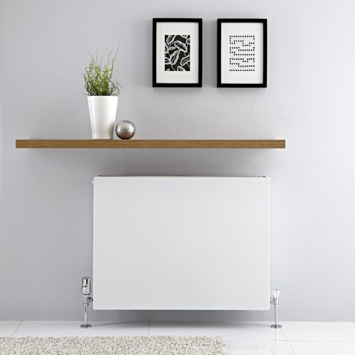 Radiador Convector Horizontal con Panel Doble - Blanco - 600mm x 800mm x 103mm - 1732 Vatios - Type 22