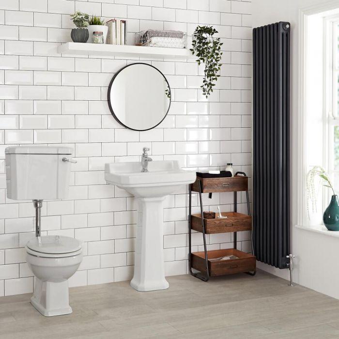 Inodoro WC Tradicional con Salida Horizontal, Cisterna y Tapa - Richmond