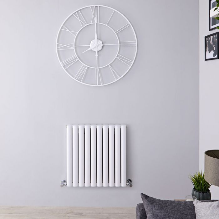 Radiador de Diseño Horizontal Doble - Blanco - 600mm x 595mm x 78mm - 783 Vatios - Revive
