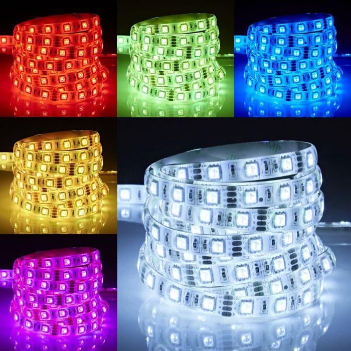 Biard Tira de Luces LED de 5 Metros RGB Rojo Verde y Azul Ultra Brillante IP65 - Resistente al Agua
