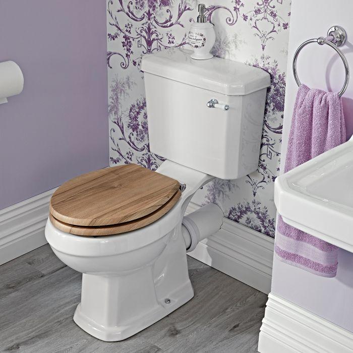 Pack de WC Tradicional Completo con Inodoro Cisterna con Salida Horizontal y con Opción de Distintas Tapas de WC - Richmond