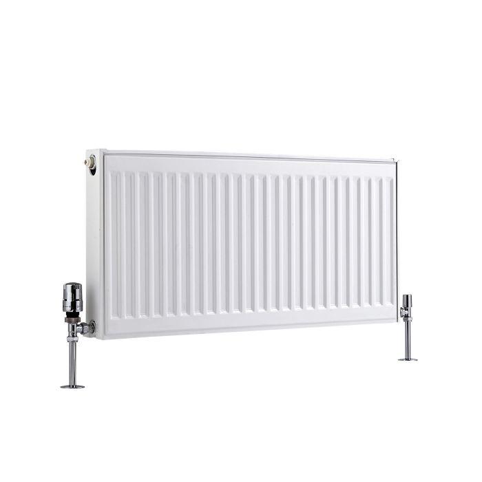Radiador Convector Horizontal con Panel Doble Plus - Blanco - 400mm x 800mm x 73mm - 968 Vatios - Eco