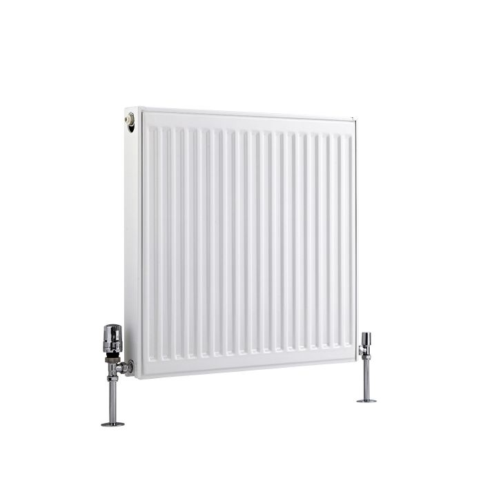 Radiador Convector Horizontal con Panel Doble Plus - Blanco - 600mm x 600mm x 73mm - 1019 Vatios - Eco