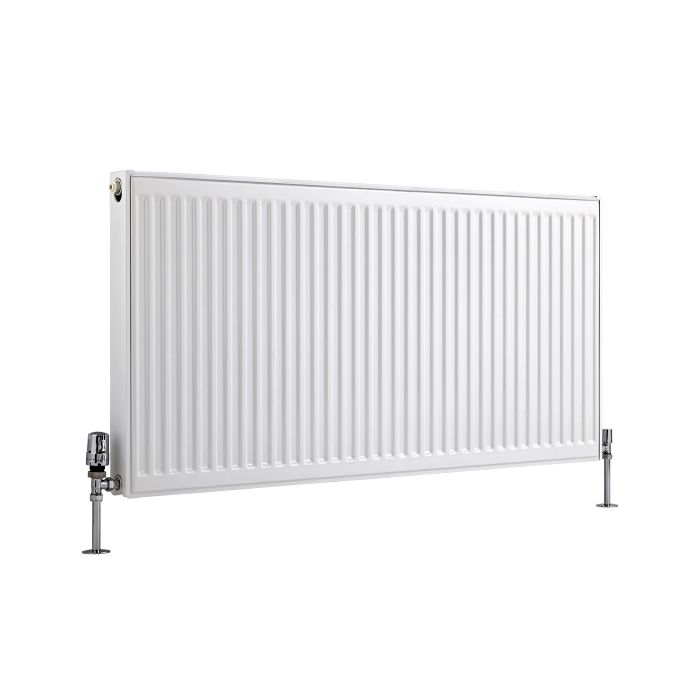 Radiador Convector Horizontal con Panel Doble Plus - Blanco - 600mm x 1200mm x 73mm - 2038 Vatios - Eco