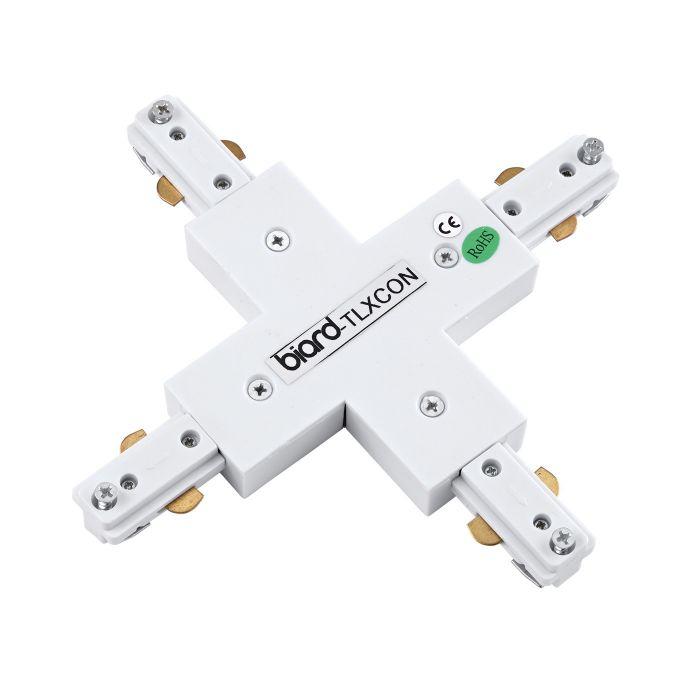 Biard Unión Conector de 4 Entradas para Focos de Carril LED - Blanco