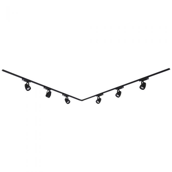 Biard Carril de Techo Angular en Forma L con 6  Luces LED COB 12W - Negro