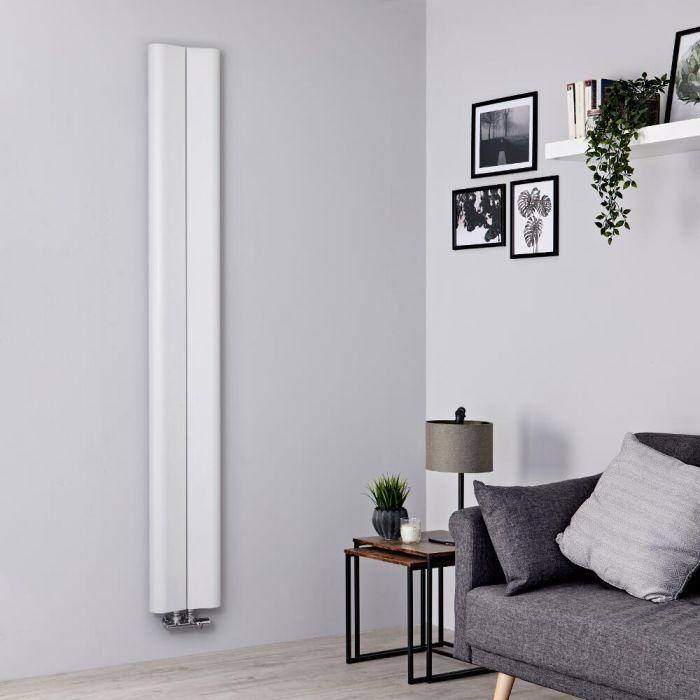 Radiador de Diseño Vertical - Aluminio - Blanco - 1800mm x 245mm - 652 Vatios - Aloa