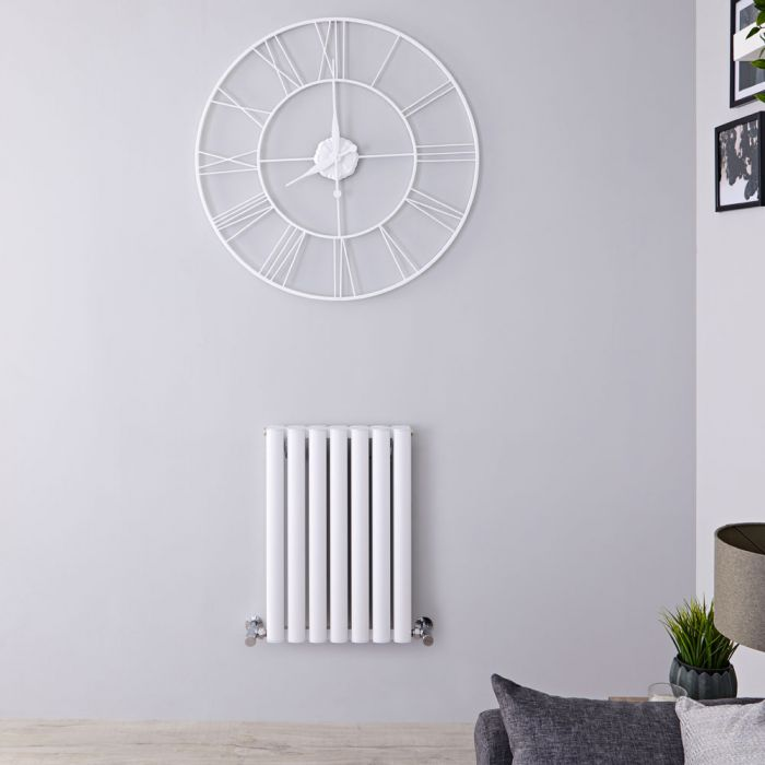 Radiador de Diseño Horizontal Doble - Blanco - 600mm x 410mm x 76mm - 804 Vatios - Revive Air