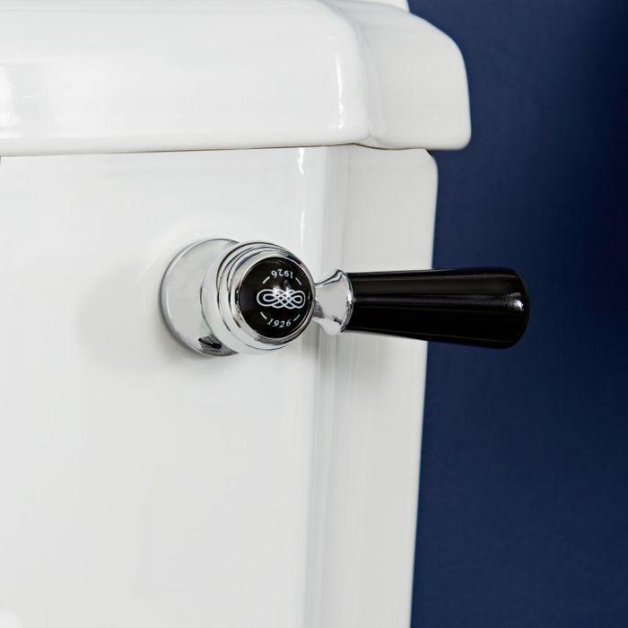 Palanca de Descarga de WC Realizada de Cerámica con Acabado Cromado y Negro - Elizabeth
