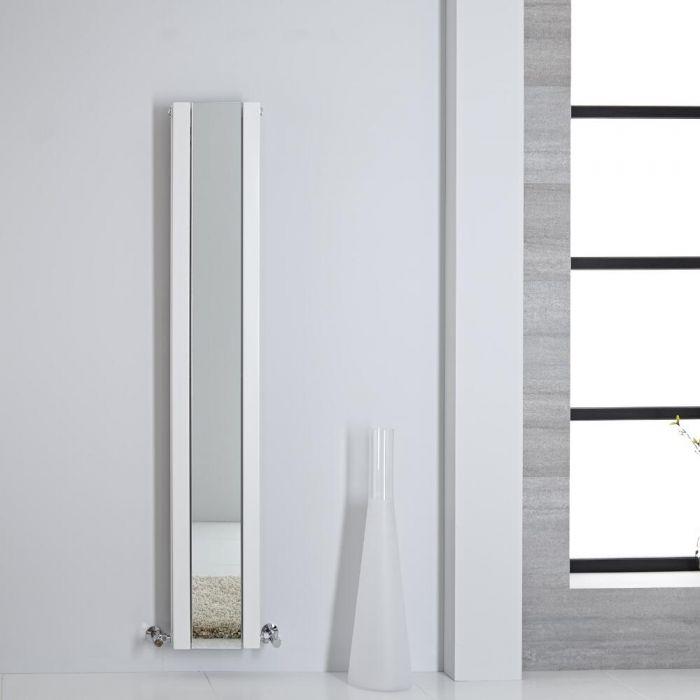 Radiador de Diseño - Vertical Con Espejo - Blanco - 1600mm x 265mm - 884 Vatios - Sloane