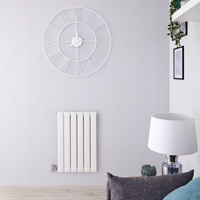 Radiador de Diseño Eléctrico Horizontal - Blanco - 635mm x 420mm x 46mm -  Elemento Termostático de 400W  - Delta