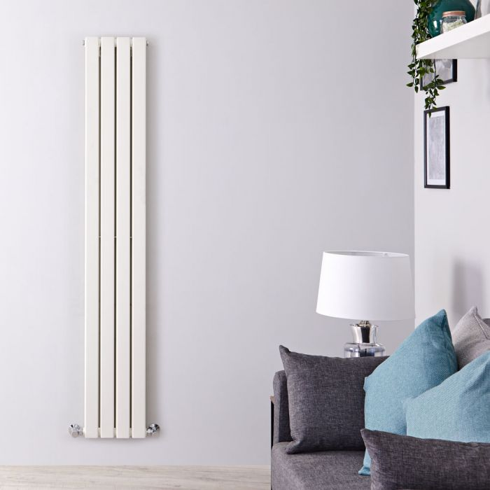 Radiador de Diseño Vertical Doble - Blanco - 1600mm x 280mm x 60mm - 881 Vatios - Delta