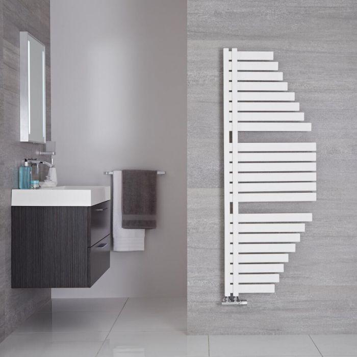 Radiador Toallero de Diseño Vertical - Color Blanco Mineral - 1460mm x 547mm - 689 Vatios - Lazio