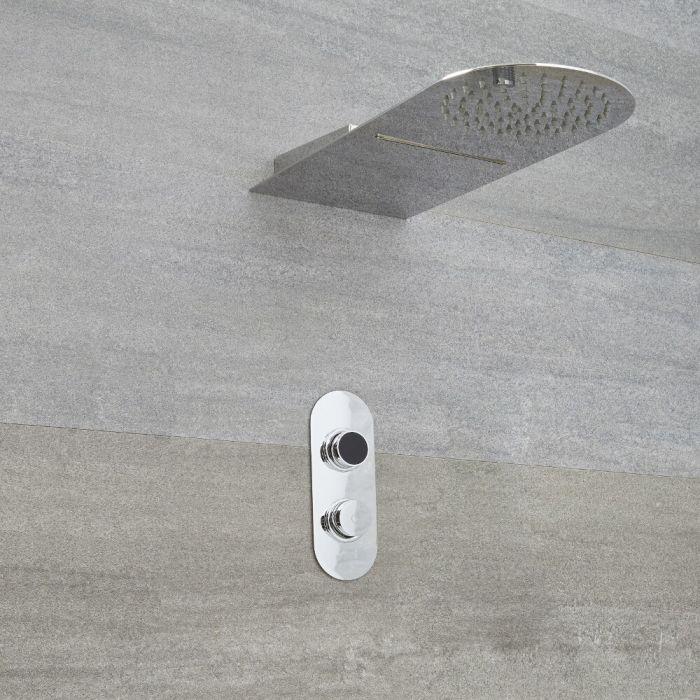 Ducha Digital con Sistema de Control de 2 Salidas con Alcachofa de Ducha de 2 Funciones Efecto Lluvia o Cascada  - Narus