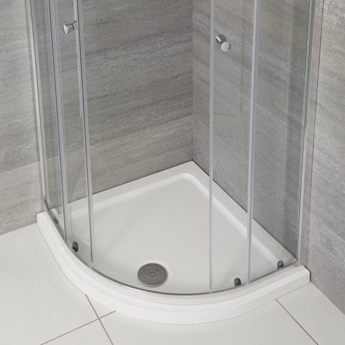 Plato de Ducha Angular Blanco de 800x800mm de Cuarto de Círculo Maxon