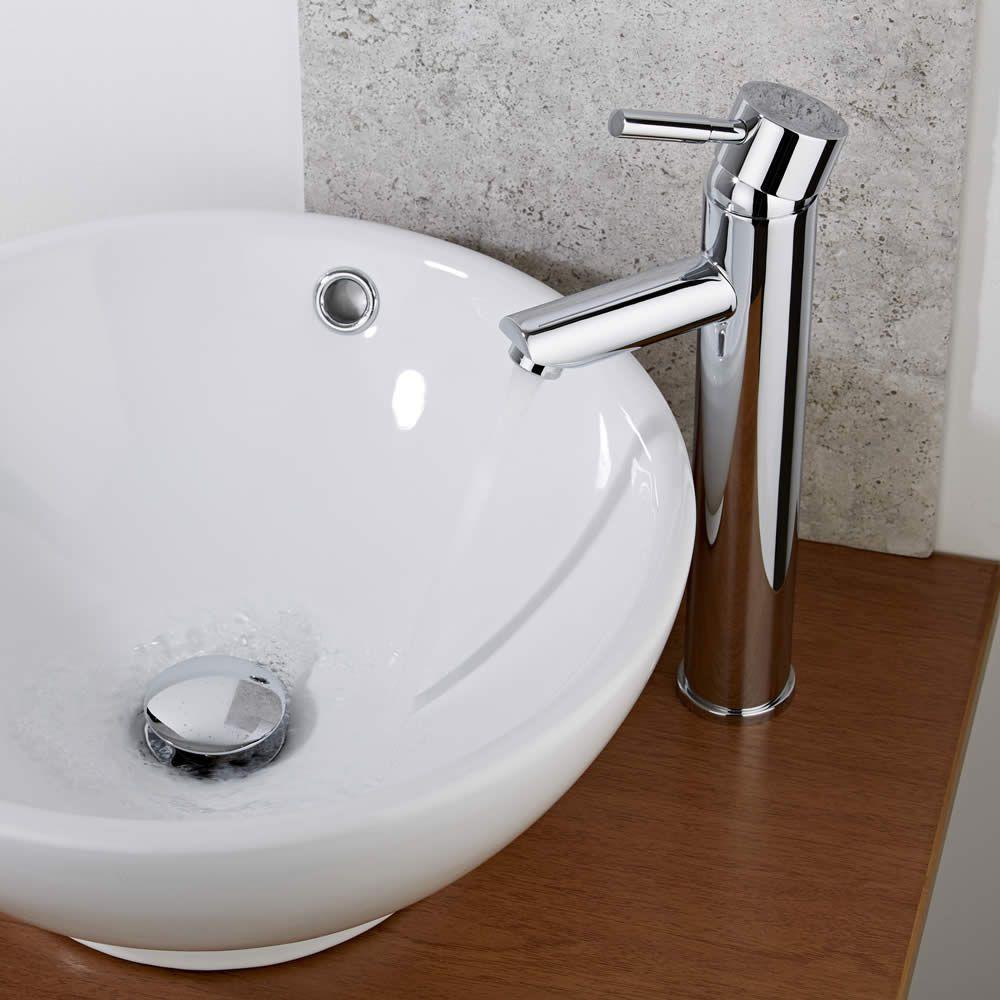 Grifo mezclador de lavabo alto para lavabos independientes for Grifo alto lavabo