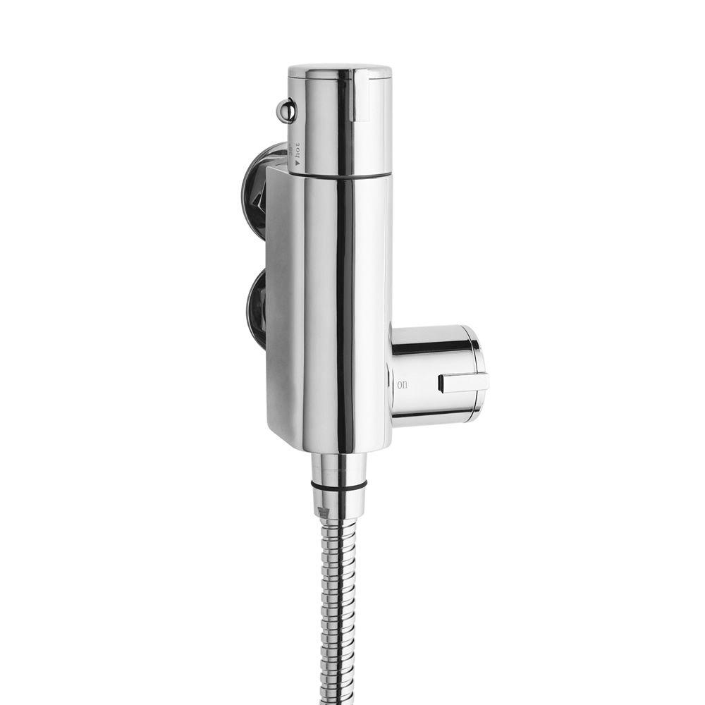Mezclador de ducha termost tico expuesto de 1 funci n for Mezclador agua para ducha