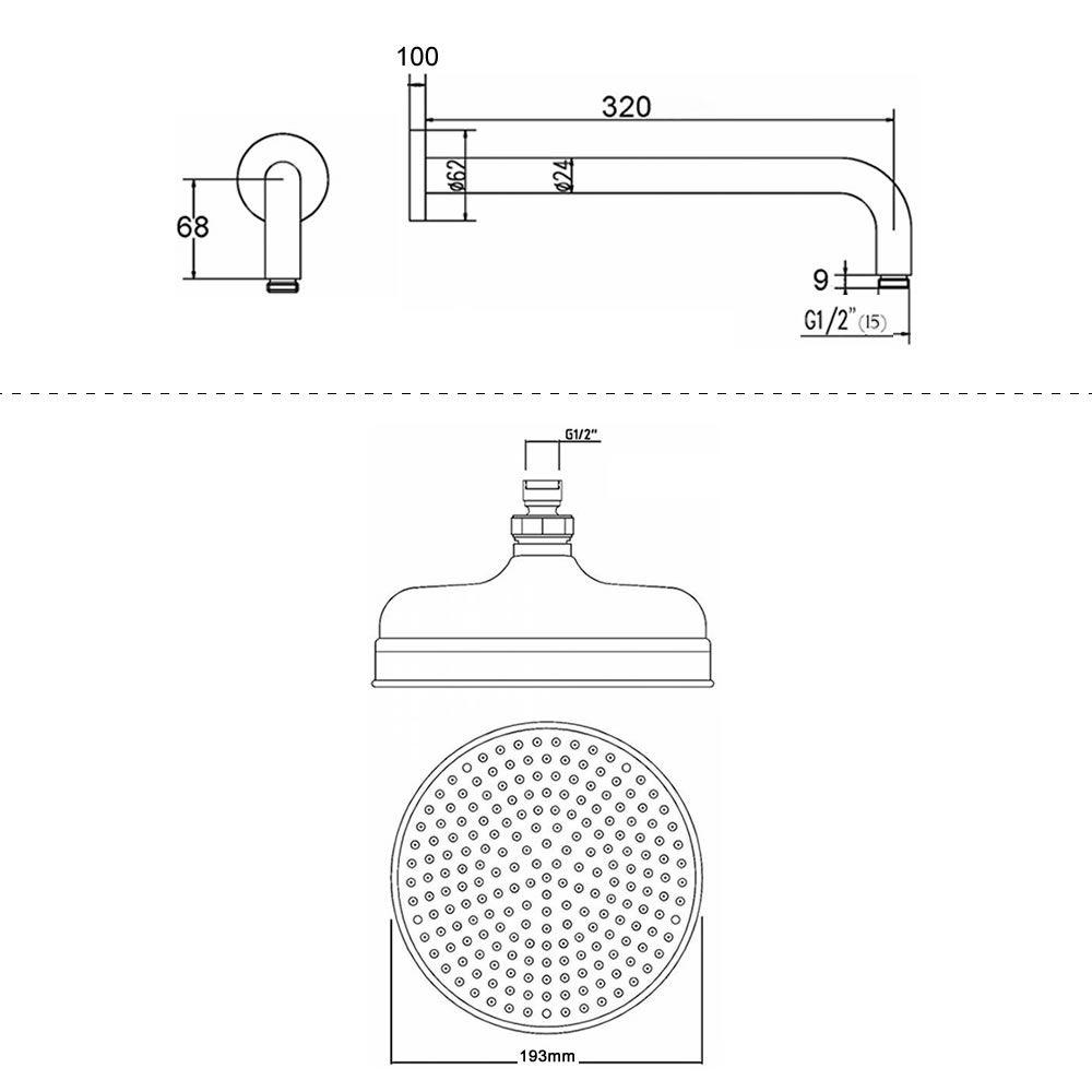 Conjunto de ducha con mezclador termost tico de una for Partes de una regadera