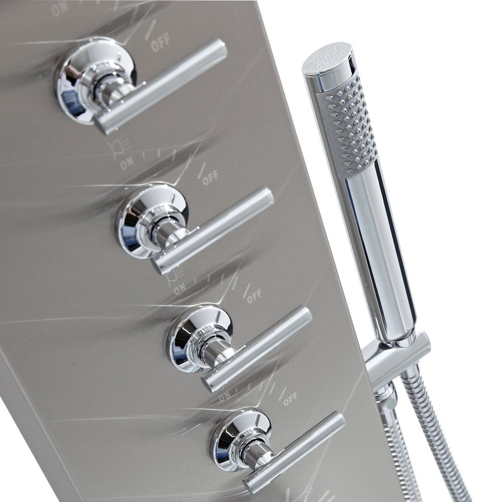Panel de ducha termost tico multifunci n con alcachofa a for Alcachofa de ducha efecto lluvia