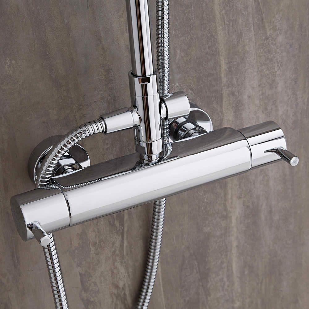 Termostato de ducha en barra minimalista for Termostato para ducha
