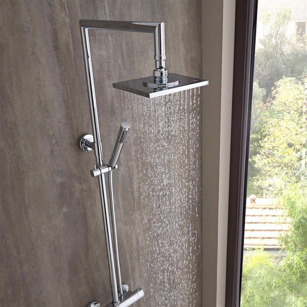 Columna de ducha completa con llave de ducha mezcladora for Llave ducha telefono