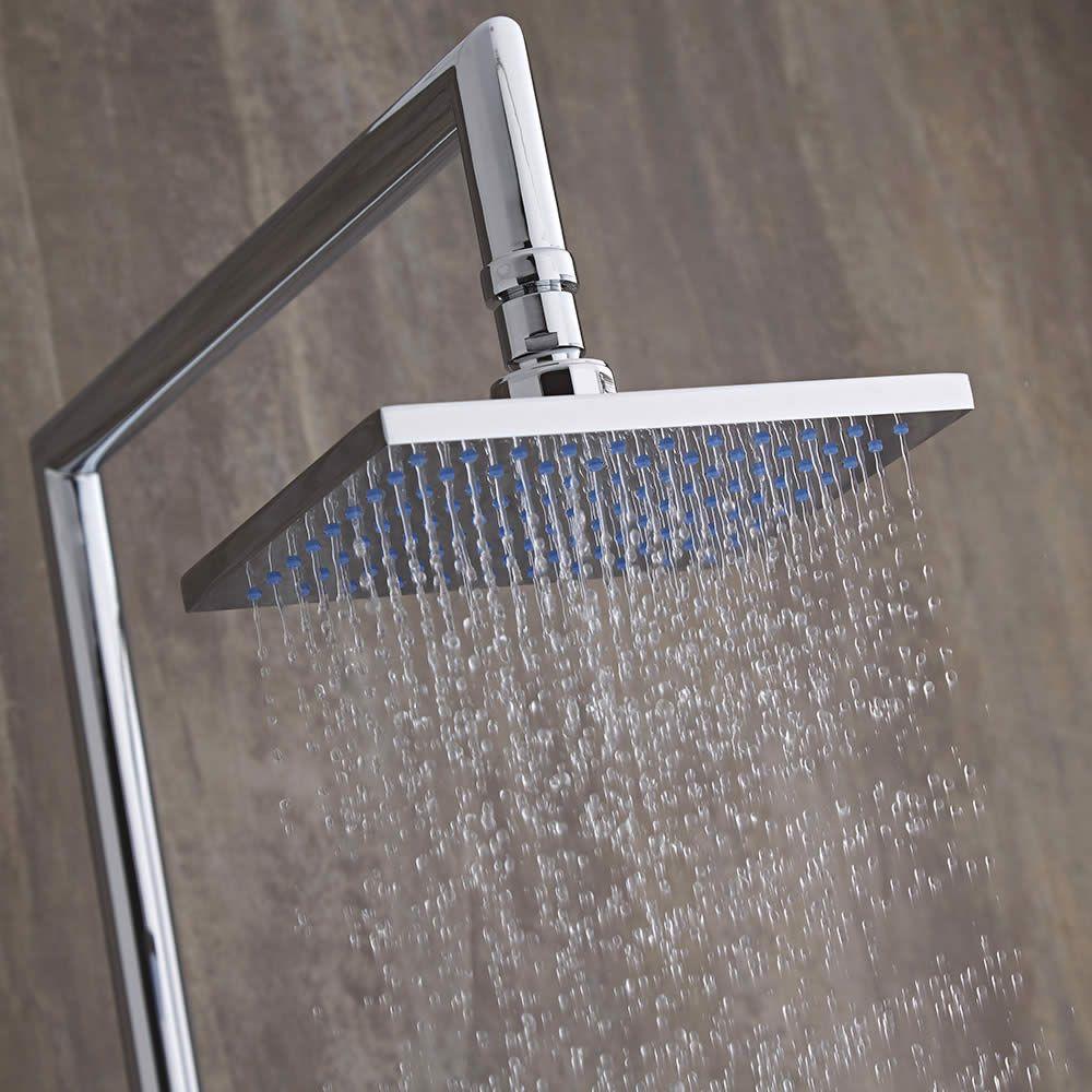Columna de ducha completa con llave de ducha mezcladora for Mezcladora de ducha precios