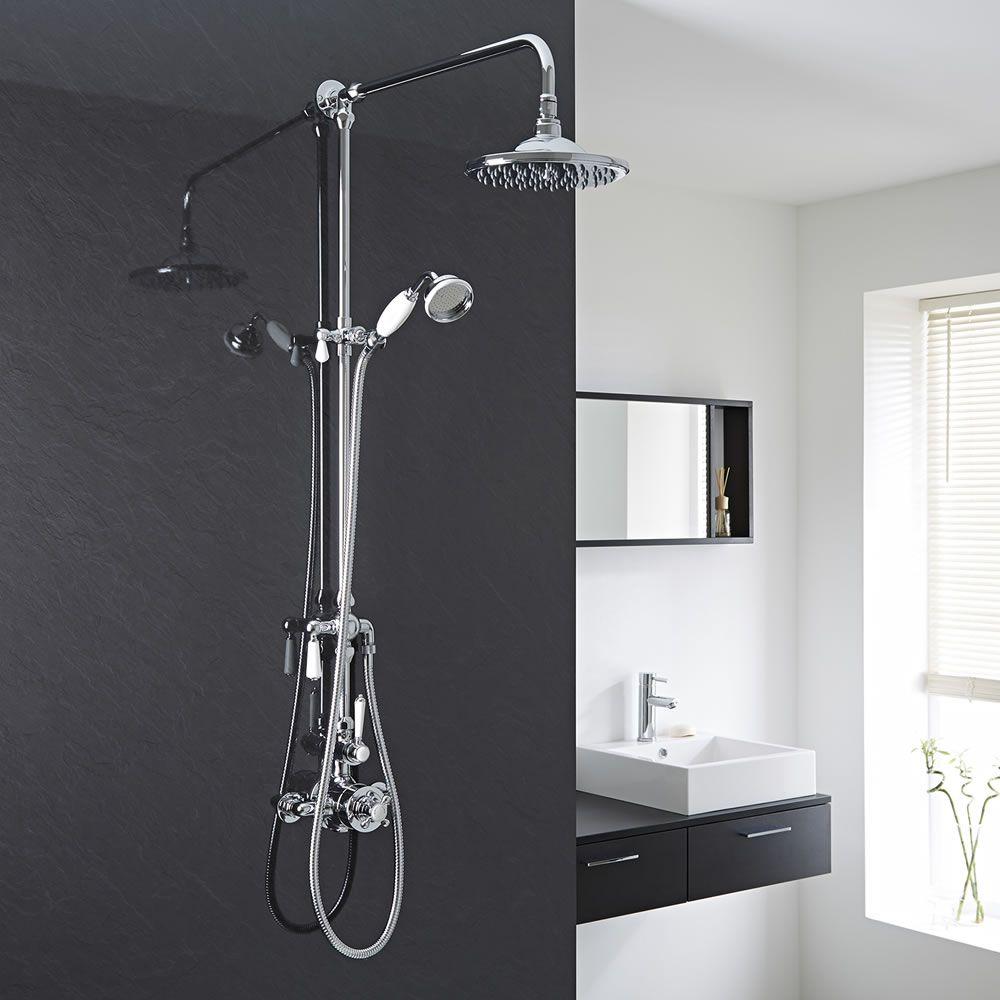 Columna de ducha termost tica tradicional completa con for Columna termostatica