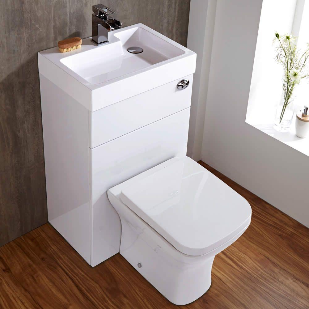 Conjunto ba o color blanco completo con lavabo e inodoro for Accesorios inodoro