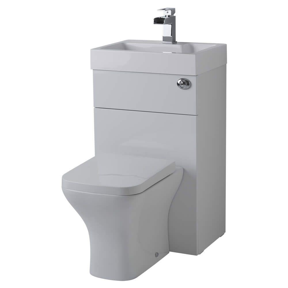Conjunto ba o color blanco completo con lavabo e inodoro for Conjunto accesorios bano