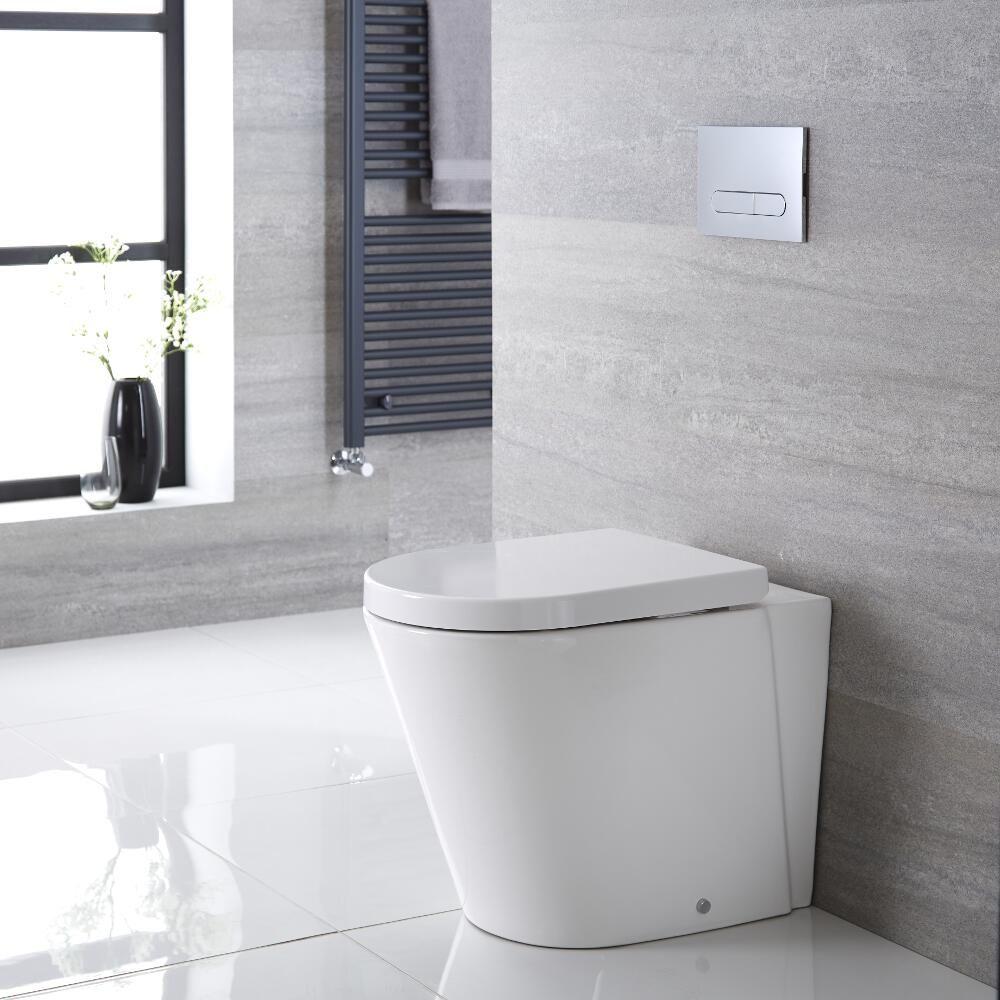 Inodoro wc oval 410x355x565mm con tapa de wc soft close - Tapas de inodoro ...