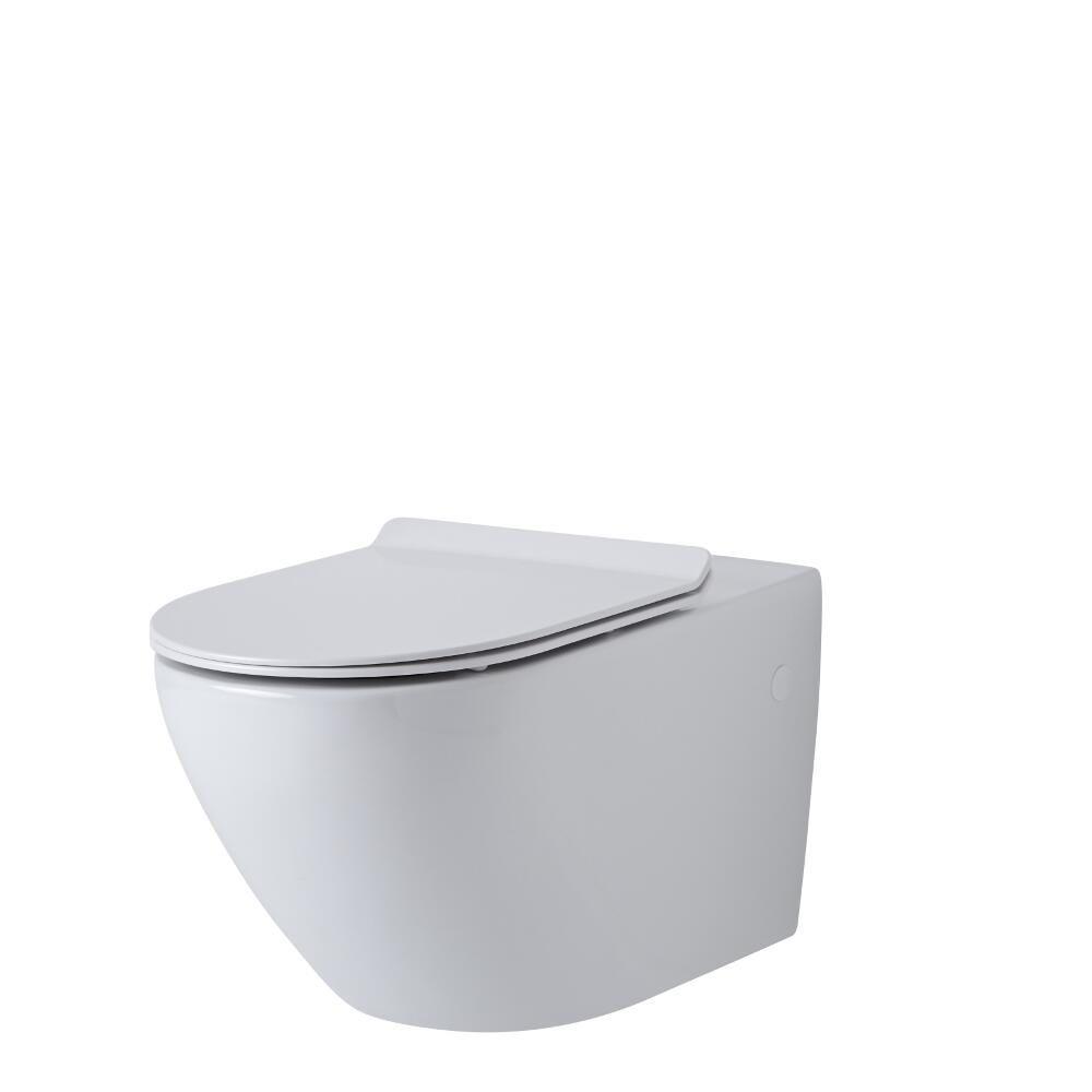 Inodoro wc oval suspendido 340x360x585mm con tapa de wc for Tapa para inodoro