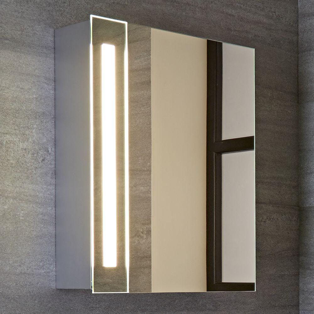 Armario con espejo led y enchufe integrado para cuarto de - Armario de bano con espejo y luz ...