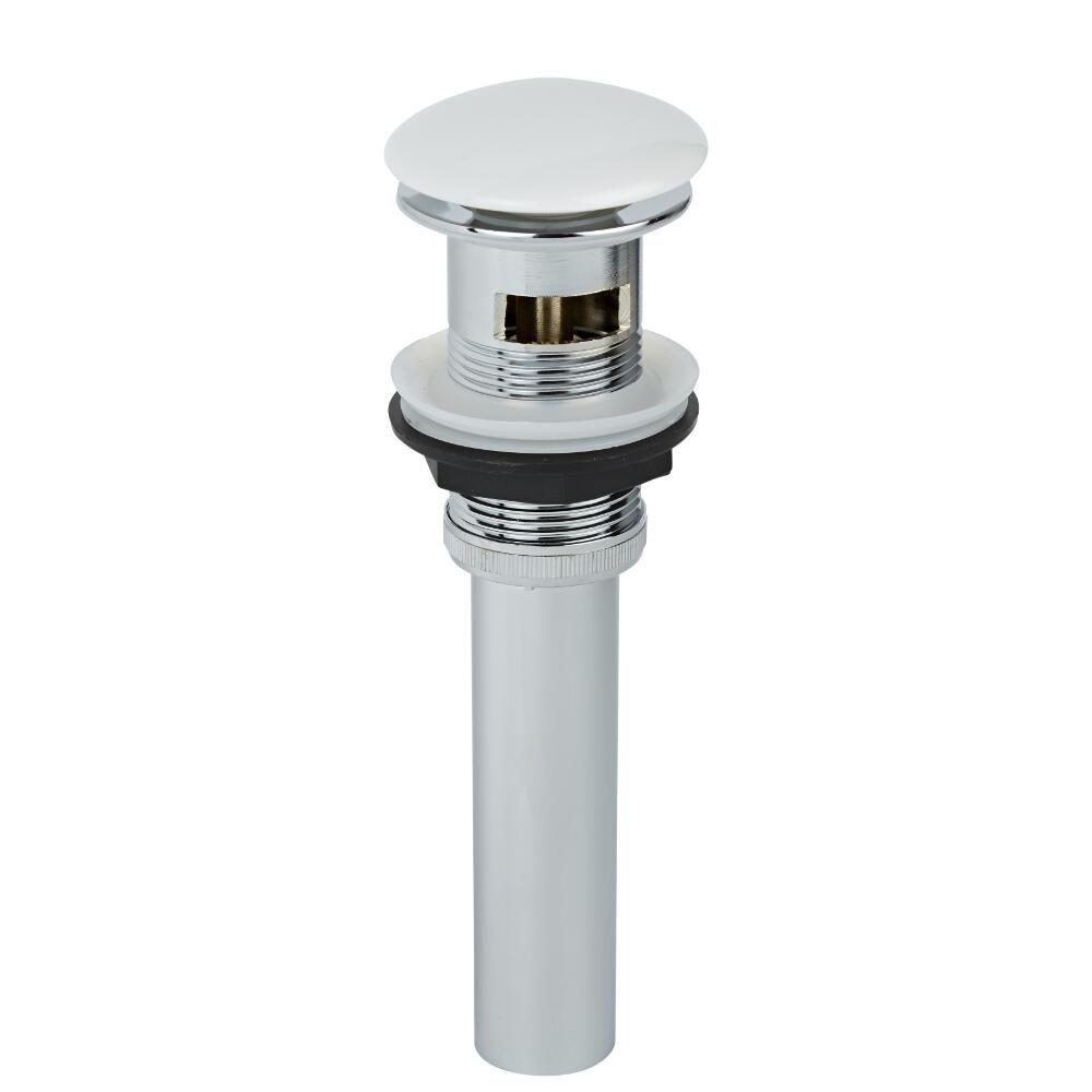 V lvula de desag e para lavabo con acabado cromado y blanco for Valvula desague lavabo