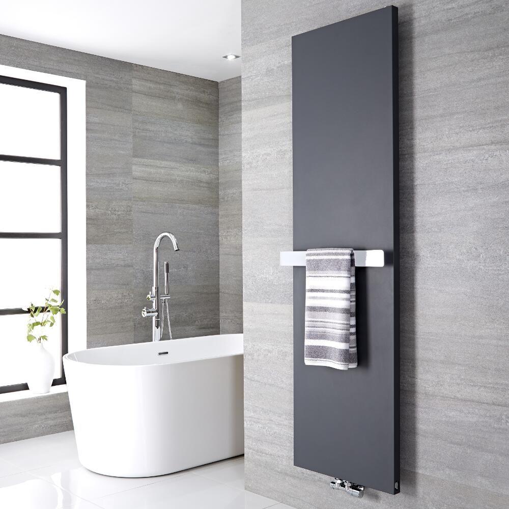 Barra porta toallas 520x60mm para radiadores de dise o - Porta toallas para bano ...